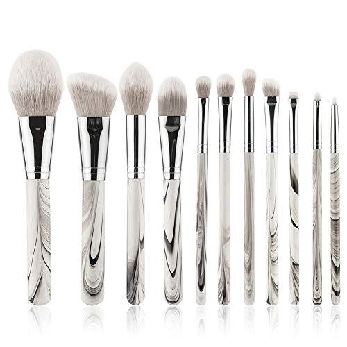 11 Paquets En Marbre Pinceau de Maquillage Pinceau Fard à Paupières Ensemble De Maquillage En Manche En Bois Maquillage Yeux Outils de Maquillage