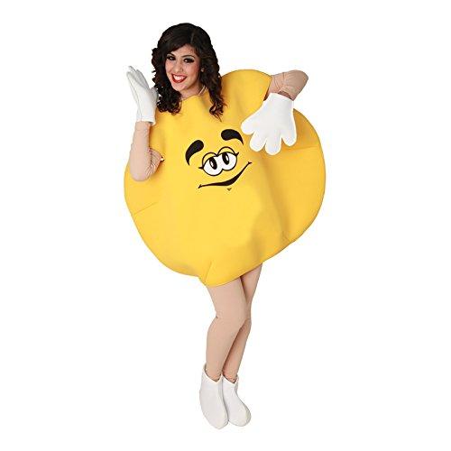 Eurocarnavales - CS925805 - Costume bonbon jaune mixte taille m/l