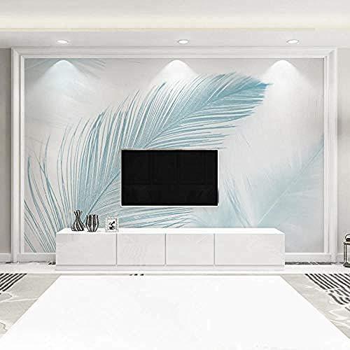 Fondo de TV Wall_3D Nordic Sofa tv Wallpaper Simple Dormitorio moderno Sala de estar Decoración Pluma personal papel pintado pared dormitorio de estar sala de estar fondo No tejido-400cm×280cm