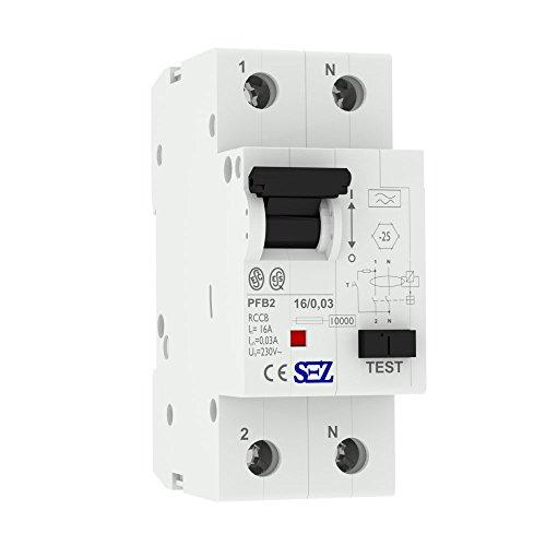 SEZ Fi-Schalter 16A 30mA 2p 10kA TYP.A Fehlerstromschutzschalter FI-Schutzschalter RCCB