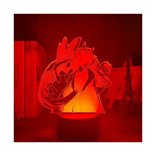 TIDRT Animación Luminosa 3D mi Héroe Academia Fukumei Jiazhi De Gumei Lámpara De Mesa Led Niños Y Niñas Decoración De Dormitorio Regalo De Cumpleaños Luz De Noche USB