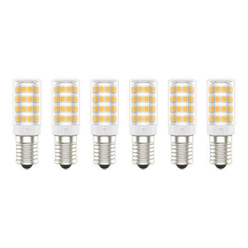 Bombillas LED E14, 5W (Equivalente a 50W), Blanco Cálido (3000K), AC220-240V, Sin Parpadeos, No Regulable, 500 Lúmenes, CRI>80, Paquete de 6 - (Blanco Cálido, 5W)