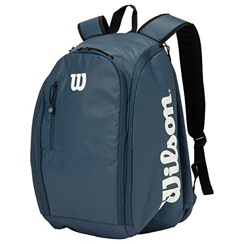 Wilson(ウイルソン) テニス バドミントン ラケットバッグ TOUR BACKPACK(ツアーバックパック) ラケット2本収納可能 NAVY/WHITE WR8002202 ウィルソン