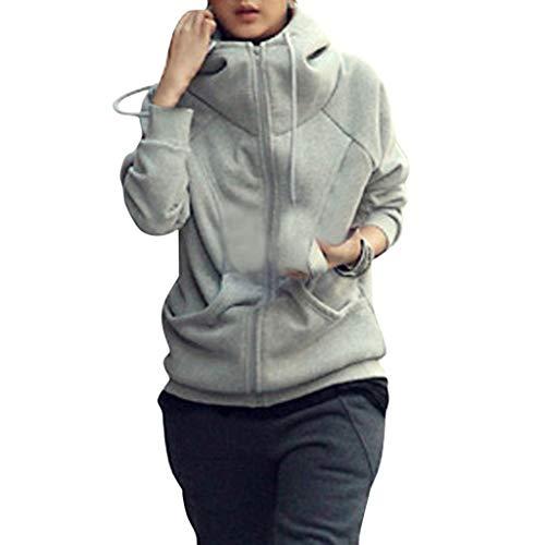 FRAUIT dames capuchon rits hoodie rolkraag pullover mode sweatjas elegant met capuchon winterjas bovenaan met capuchon lange mouwen casual sportmantel