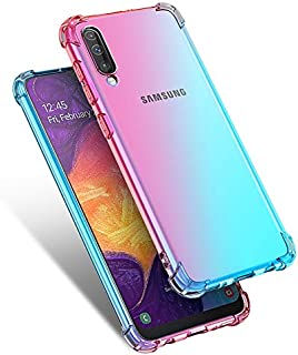 Starhemei for Galaxy A90 5G Case, Shockproof Gasbag Case Gradient Color Anti-Fall Soft Silicone Anti-Drop Phone Case for Samsung Galaxy A90 5G