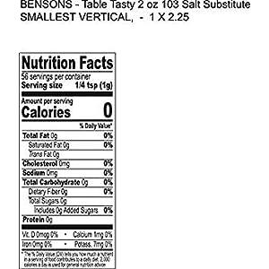1 pound Table Tasty No Potassium Chloride Salt Substitute - No Bitter After Taste - Good Flavor - No Sodium Salt Alternative - 1 Lb Resealable Bag - More Economical