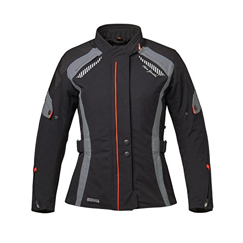 Hein Gericke Cortina sheltex® Damenjacke schwarz/grau 36 - Motorradjacke