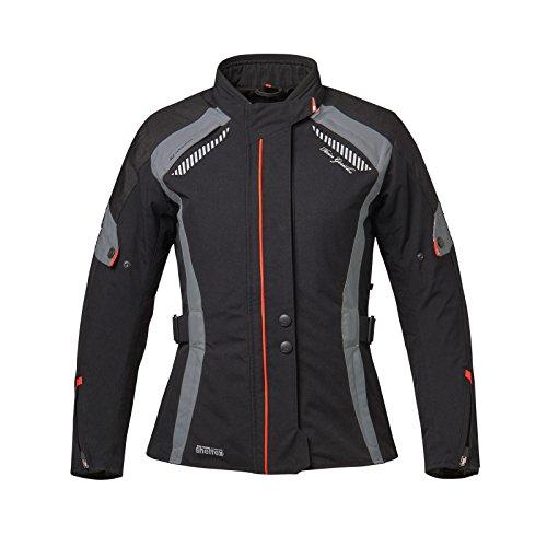 Hein Gericke Cortina sheltex® Damenjacke schwarz/grau 42 - Motorradjacke