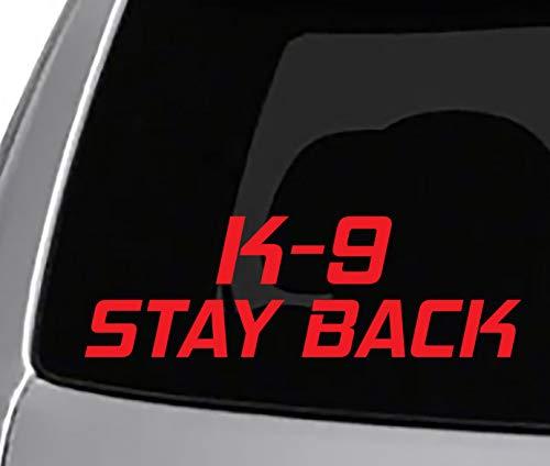 Seek Racing K-9 Stay Back Decal CAR Truck Window Bumper Sticker COPS Police Dog Vehicle