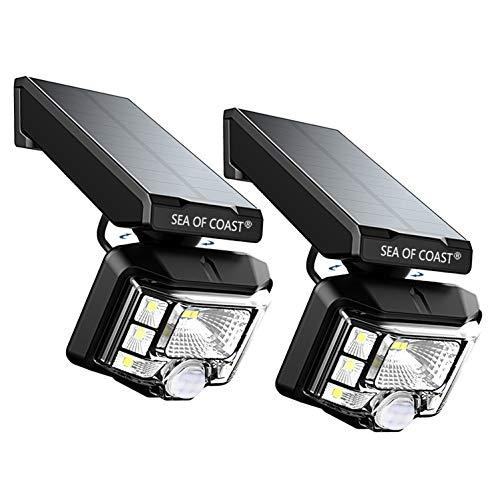 Outdoor Solar Lights, Intelligent dynami Sensor, 8 LED Lighting Super Bright Sensor Outdoor Light, Wall Solar Light Outdoor Security Lighting - IP65 Waterproof Solar Light for Patio (2pack)