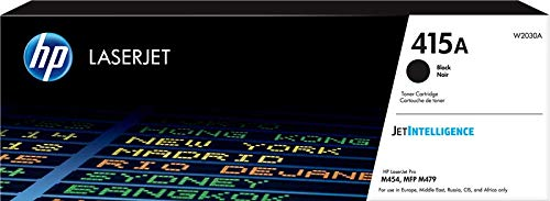HP 415A W2030A Cartuccia Toner Originale da 2400 pagine per Stampanti Color LaserJet Serie Pro M454 e M479, JetIntelligence, Nero