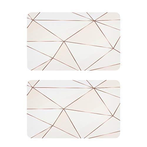 QMIN - Imanes de nevera geométricos con líneas de oro rosa, 2 unidades, divertidos y bonitos imanes decorativos para nevera, para cocina, lavavajillas, puerta de metal y oficina