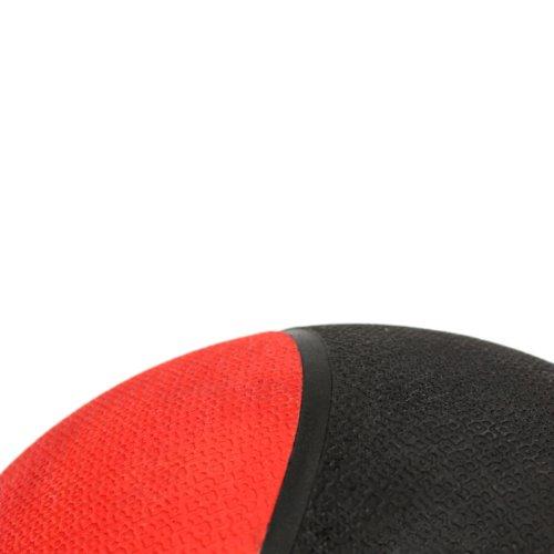 POWRX - Balón Medicinal 1 kg + PDF Workout (Negro/Rojo)
