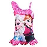 LQSZ Mädchen Badeanzug Kinder Bademode mit Schultergurter Kinderbadeanzug Badebekleidung Mehrfarbig Einteiliger