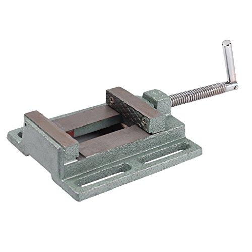 shamjina 2.5''/ 3'' JAW DRILL PRESS PILLAR VICE WOOD CLAMP CAST IRON 79MM WORK BENCH - Silver, 3 Inch