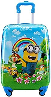 Minions Travel Luggage Trolley Bag For Kids on wheels Boarding Box 18inch