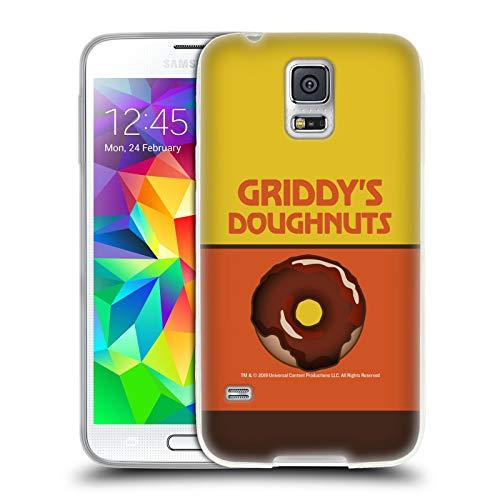 Head Case Designs Ufficiale The Umbrella Academy Cioccolato Griddy's Ciambelle Cover in Morbido Gel Compatibile con Samsung Galaxy S5 / S5 Neo