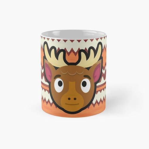 Erik Animal Crossing Taza clásica mejor regalo tazas de café divertidas 11 oz