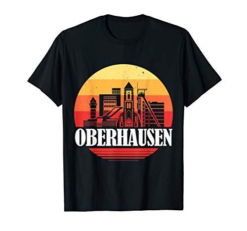 Oberhausen Skyline im Retro Vintage Stil T-Shirt