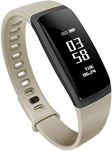 Banda inteligente clásica con monitor de ritmo cardíaco y sueño de gama alta seguimiento de actividad física reloj ejercicio de salud negro Exquisito/carne roja