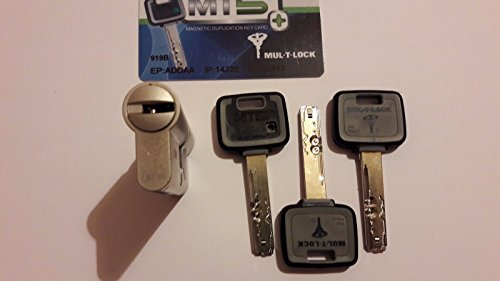 MUL-T-LOCK MT5+ High Security Euro Cylinder Lock .3 Keys and ID Card (31/60)