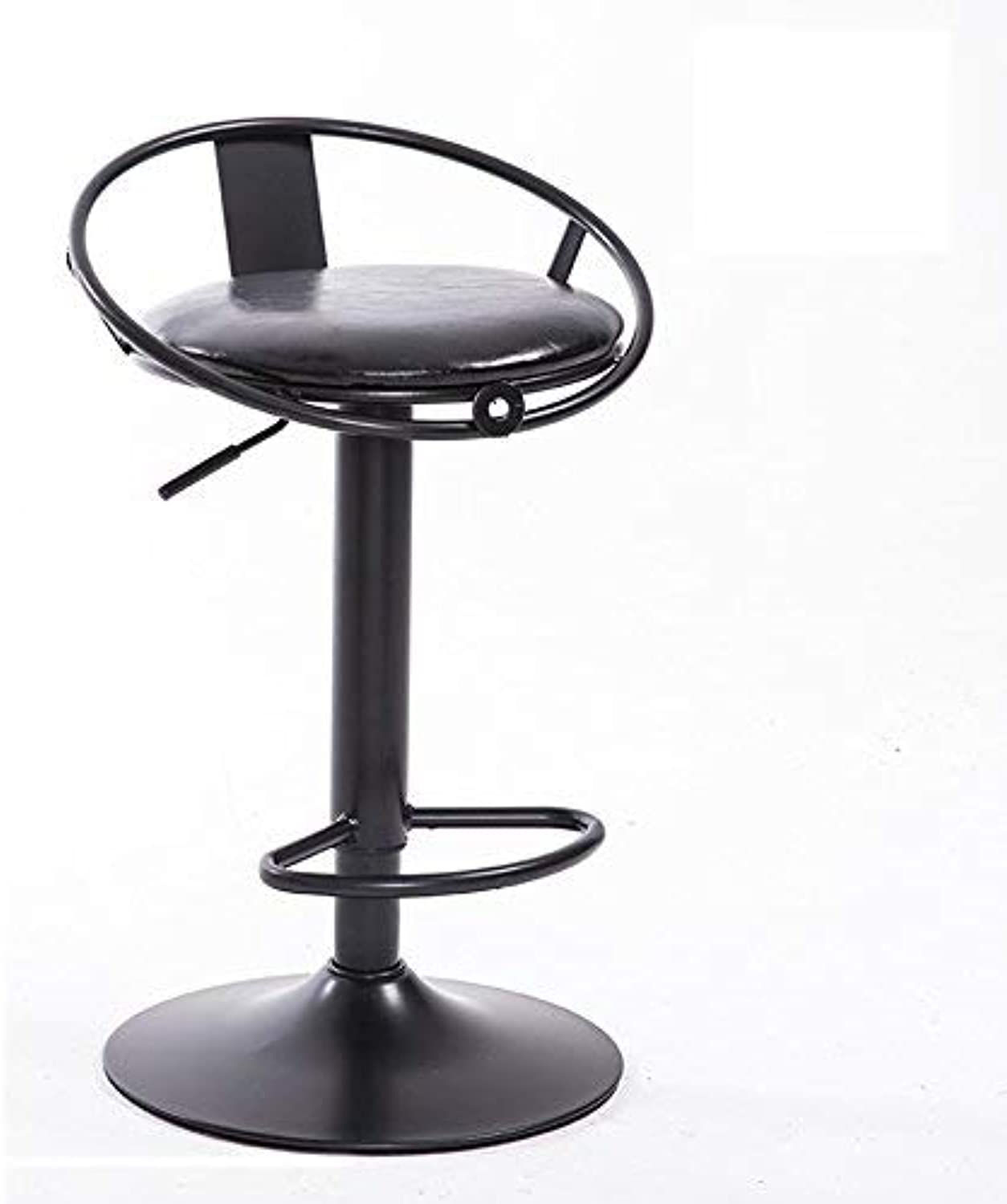 CWJ Chair Stool - Bar Chairs Round Stool High Stool Dining Chair Iron Chair Height Adjustable Modern Style Adult Home Stool