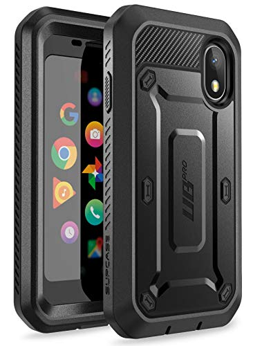 SupCase Unicorn Beetle Pro Series Case for Palm with Built-in Screen Protector (2018 Release), Retail Package Without Holster (Black)