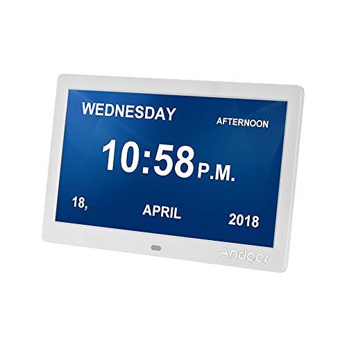 Andoer 10 Inch Digital Calendar Clock Memory Loss Day Clock Digital Photo...