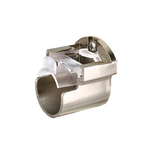 Speedy Poles Apart 35mm Recess Support Bracket, Satin Silver, by Speedy Poles Apart