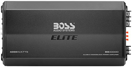 BOSS Audio Systems Elite BE4000D Class D Car Amplifier - 4000 Watts, 1 Ohm Stable, Digital, Monoblock, Mosfet Power Supply, Great for Subwoofers, Remote Subwoofer Control