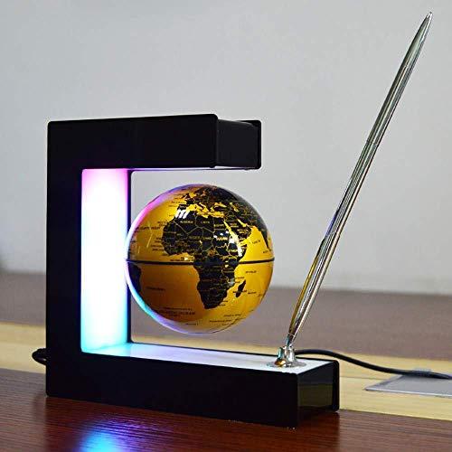 Globe Flottant à Lévitation Magnétique, Globe à Lévitation Magnétique 3 'Flottant avec Stylo Technologie Créative Lumières LED Colorées Éducation des Enfants Cadeaux Décorations Décoration