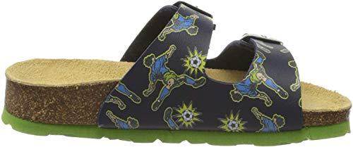 Superfit Jungen Fussbettpantoffel Pantoffeln, Blau (Blau 81), 34 EU