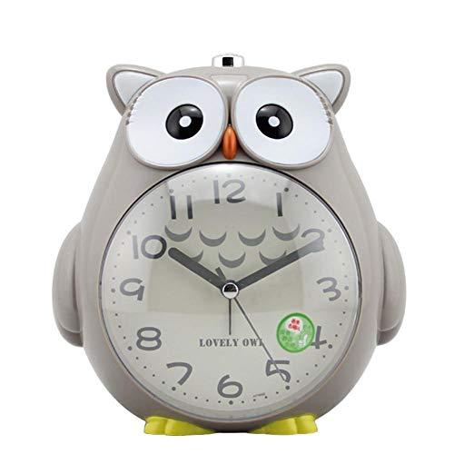 Rich-home Reloj Despertador Búho con Luz Nocturna, Función De Despertador En El Dormitorio con Alarma Sonora para Estudiantes De Niños