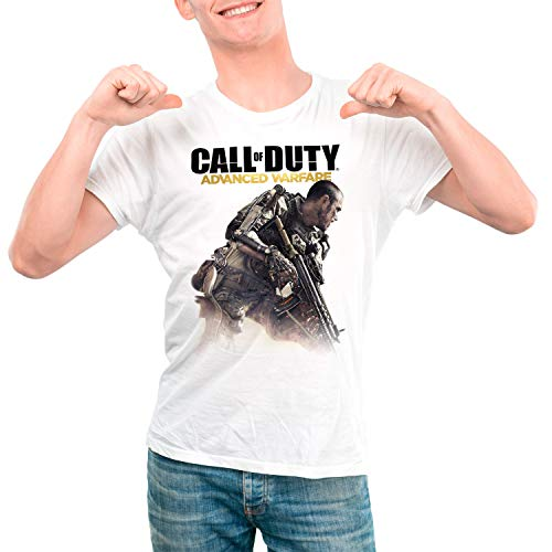 Camiseta Hombre Videojuego Call of Duty, Advanced Warfare (Blanco, XL)
