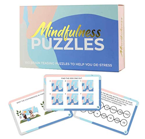 Gift Republic GR670021 Mindfulness Brain Training Puzzles Cards