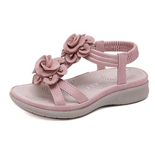 SANMIO Sandalen Mädchen Kindersandale Geschlossene Leder Innensohle Sandale Baby Prinzessin Blumen Sommer Schuhe Sandaletten