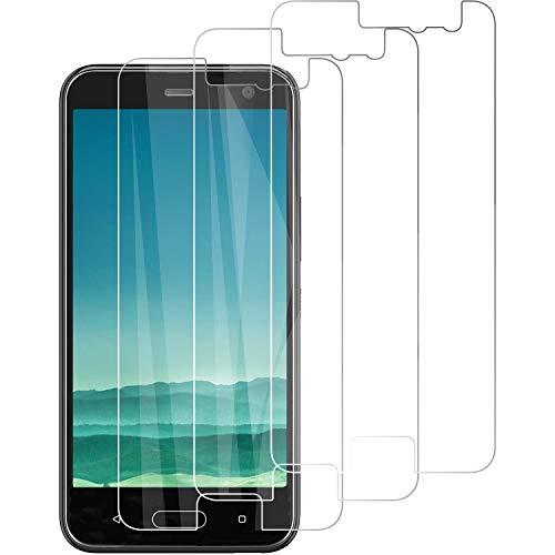 PUUDUU [3 Stück Panzerglas Schutzfolie für HTC U11 2018, HD Klar Panzerglasfolie, Anti-Kratzen, 9H Härte, Anti-Bläschen,Displayschutzfolie für HTC U11 2018