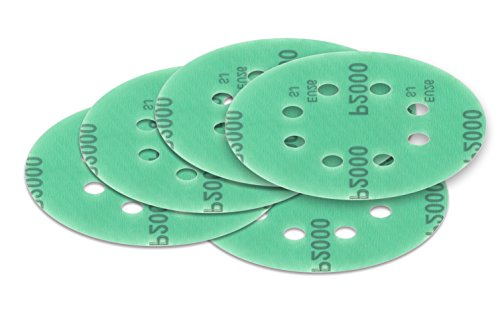 125 mm green Exzenter Schleifscheiben Sortiment SET 25 Scheiben P2000 P1500 P1200 P1000 P800 , 8 Loch Klett Schleifpapier