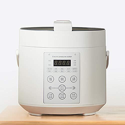 XIAOFEI Riz Cuisinier Autocuiseur Électrique Programmable Ragoût La Poêle avec Non- Bâton Pot 24 Heures Garder Chaud Fonction Lent Cuisinier, Garde Nourriture Chaud 2L,Blanc