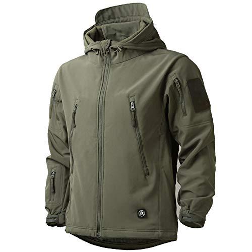 MakingDa Chaquetas impermeables para hombre con capucha casual con forro polar Softshell para correr Chaquetas tácticas militares de trabajo Pesca Caza Escalada