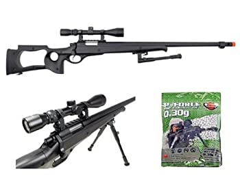 well awn g22 heavy single bolt action sniper airsoft rifle with 3,300 .30g bb s Airsoft Gun