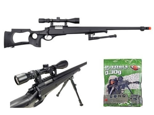 well awn g22 heavy single bolt action sniper airsoft rifle with 3,300 .30g bb's(Airsoft Gun)