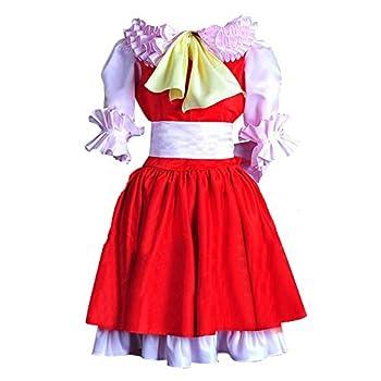 Anime Flandre Scarlet Dress Satin Cosplay Custom Made  L
