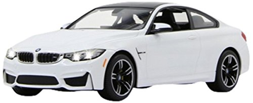 Jamara 404566 - BMW M4 Coupe 1:14 blanco - Licencia oficial, Detalles fieles, Hasta una hora de funcionam., Alta calidad, Luces LED
