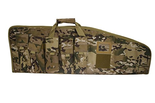 ARMYCAMOUSA Rifle Bag Outdoor Tactical Carbine Cases Water dust Resistant Long Gun Case Bag with Five Magazine Pouches for Hunting Shooting Range Sports Storage and Transport (38' Multicam)