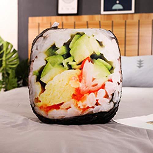 LinZX Il Cibo Peluche realistica spuntino tampografia Bicchiere di Birra Sushi 3D Cuscino Cuscino Hot Dog Pizza Hamburger Props Regalo per Adulti,Nori Sushi