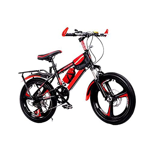 HUAQINEI Children's bicycles for boys and girls 18 20 22 24 inch primary and middle school students bicycle mountain bike variable speed bicycle,Red,22