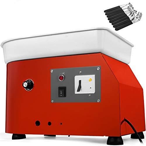 VEVOR 25cm Rueda de Cerámica Eléctrica Máquina de Cerámica Kit de Bricolaje Herramienta de Arcilla 280W con Motor sin Escobillas Avanzado para Trabajo de Cerámica Cerámica Arcilla Control de Velocidad