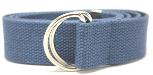 Deal Fashionista D Ring Webbed Cotton Canvas Belt XL Navy Blue 47'