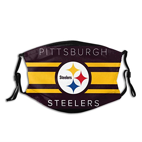 Steelers Face Mask Adjustable Reusable Fashion Graphic Sports Fans Dust Cover For Adult Mens/Women